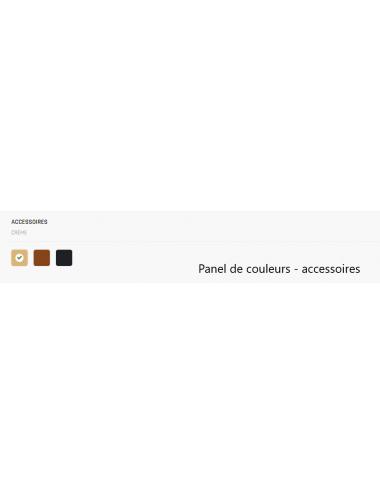 Couleurs accessoires (selle, poignées et pneus)